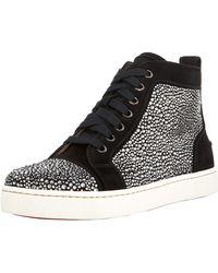 Christian Louboutin Louis Jeweled Sneaker - Lyst
