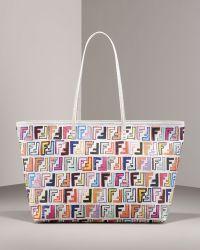 Fendi Zucca-print Canvas Tote - Lyst