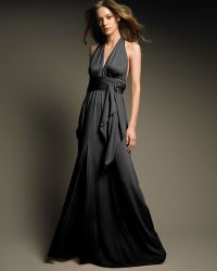 Halston Heritage Long Halter Gown - Lyst