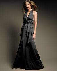 Halston Heritage Long Halter Gown - Lyst