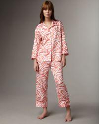 Natori Mao Animal-print Pajamas - Lyst