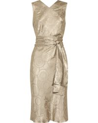Clemens en August Printed Satin Dress - Lyst