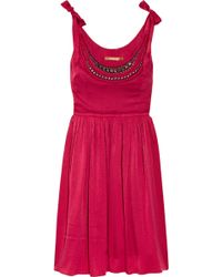 Thurley Embellished Hammered-silk Dress - Lyst