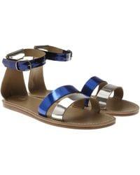 Acne Studios - Venice Metallic Leather Gladiator Sandals - Lyst