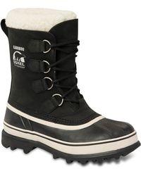 Sorel Womens Caribou Snow Boots - Lyst