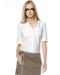 Michael Kors Poplin Shirt - Lyst