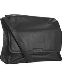 CALVIN KLEIN 205W39NYC - Black Pebbled Leather Messenger Bag - Lyst