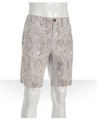 Elie Tahari - White Paisley Cotton Trent Shorts - Lyst