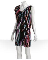 Julie Dillon -  Airbrush Stripe Jersey Drop Waist Dress - Lyst