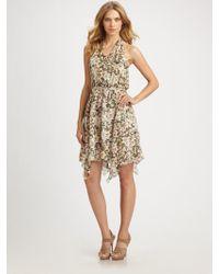 Leifsdottir - Amazon Meadow-print Silk Halter Dress - Lyst