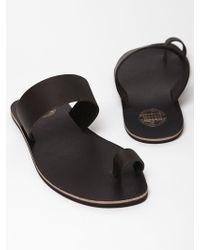 Acne Studios Mens Leather Agra Sandals - Lyst