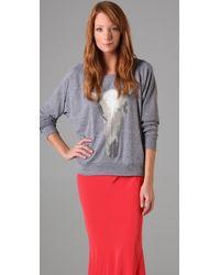 Haute Hippie Longhorn Skull Sweatshirt gray - Lyst