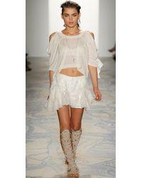 Jen Kao - Mirage Peplum Shorts - Lyst