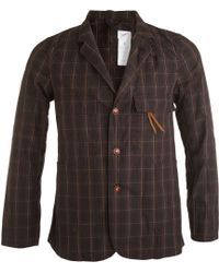 Garbstore Three-color Check Jacket - Lyst