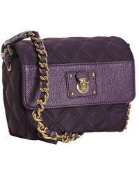 Marc Jacobs Violet Quilted Nylon Debbie Flap Shoulder Bag - Lyst