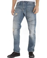 Garbstore Destroyed Relaxed Fit Jean - Light Blue - Lyst