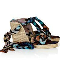 Missoni Crochet-knit Espadrille Sandals - Lyst