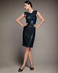 Redux Charles Chang-lima - Cap-sleeve Sequined Mesh Dress - Lyst
