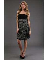 Sue Wong Strapless Cocktail Dress - Lyst