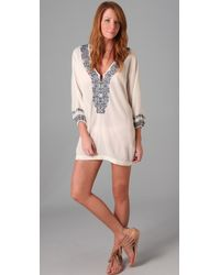 Joie - A La Plage Embroidered Bahamas Tunic - Lyst