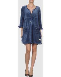 Odd Molly Blue Short Dress - Lyst