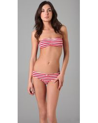 Honeydew Intimates - The Nautical Stripe Bandeau in Red - Lyst