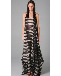L.A.M.B. - Print Long Dress - Lyst