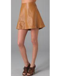 Graham & Spencer - Leather Skirt - Lyst
