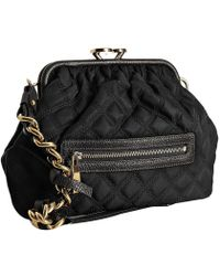 Marc Jacobs Black Quilted Nylon Little Stam Kisslock Chain Shoulder Bag - Lyst