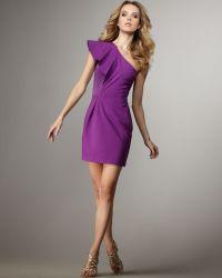 Halston Heritage One-shoulder Dress - Lyst