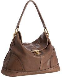 Prada Stone Deerskin Pushlock Shoulder Bag - Lyst