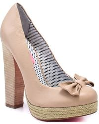 Betsey Johnson Maggi - Nude Leather - Lyst