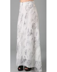L.A.M.B. - Long Skirt with Train - Lyst