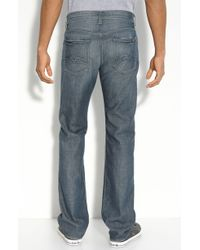 7 For All Mankind Standard Fit - Tracer Layout Straight Leg Jeans (simon Lake Wash) - Lyst