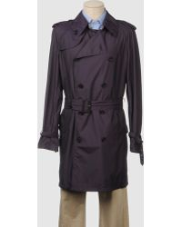 Aquascutum Purple Full-length Jacket - Lyst