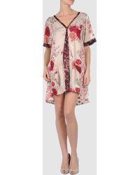 Odd Molly Pink Short Dress - Lyst