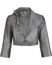 Paddy Campbell - Metallic Silk Bow Bolero - Lyst