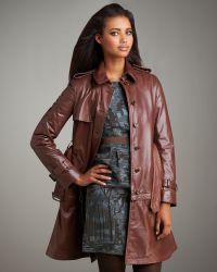 Philosophy di Alberta Ferretti - Convertible Leather Jacket-coat - Lyst