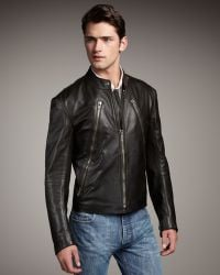 Maison Margiela Leather Motorcycle Jacket - Lyst