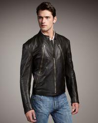 Maison Margiela Leather Motorcycle Jacket - Lyst