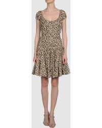 Cher Michel Klein Short Dress - Lyst