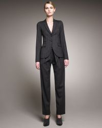 Armani - Pleated-front Paper-bag Trousers - Lyst