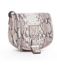Michael Kors Python Mini Flap Bag - Lyst
