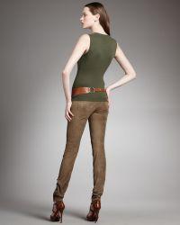 Ralph Lauren - Suede Jeans - Lyst