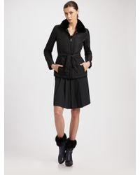 Armani Nylon Belted Jacket - Lyst
