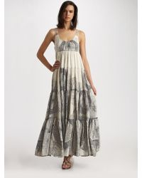 Leifsdottir - Floral Illustration Dress - Lyst