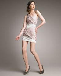 Alice + Olivia Draped One-shoulder Goddess Dress - Lyst