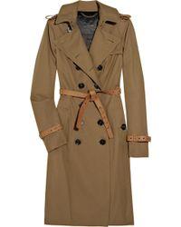 Burberry Prorsum Belted Cotton-gabardine Trench Coat - Lyst
