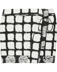 Proenza Schouler Tie-dye Cotton Wrap Mini Skirt - Lyst