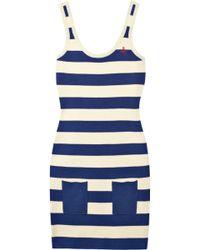 Sonia by Sonia Rykiel Striped Cotton-blend Tank Dress - Lyst